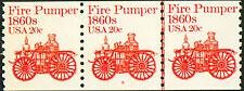 PNC #1908 #6 MNH 20c FIRE PUMPER Strip of 3