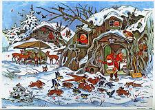 Tiere im Winter Adventskalender von Fritz Baumgarten Silberglimmer Reprint 10098