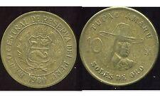 PEROU  10  soles de oro 1980