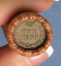 ONE UNOPENED INDIAN HEAD CENT WHEAT PENNY SHOTGUN ROLL FROM ESTATE .. R7