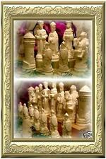 große RITTER roh Schachfiguren Schach Schachspiel basteln hobby