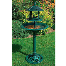 Kingfisher Large Ornamental Free Standing Bird Bath & Sheltered Table BB01