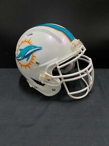 MIAMI DOLPHINS GAME USED AUTHENTIC NFL RAWLINGS OFFICIAL HELMET 2015 YEAR SZ-LG