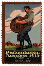 """Germany Poster Stamp Advertising Beer - """"Patzenhofer"""" - Schultheiß-Brauerei"""