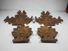 Victorian solid Brass Cast Architectural antique Pediment Plaque Ornaments Fence