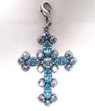 SoHo® Anhänger Kreuz aquamarine navette marquise Kristall Strass 1960s aurora