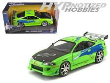 JADA 1:24 FAST AND FURIOUS BRIAN'S 1995 MITSUBISHI ECLIPSE DIE-CAST GREEN 97603