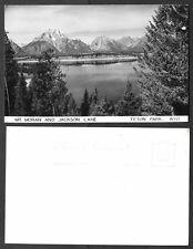 Old Wyoming Real Photo Postcard - Mt. Moran and Jackson Lake