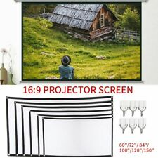 """60""""/120""""/150"""" Portable Foldable Wall Projector Screen 16:9 Home Theater Outdoor"""