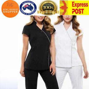 Women's  TOP + PANT modern stain release cross over tunic - Salon/Spa/Beauty