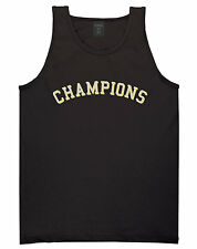 Kings Of NY Champions Arch Black and Gold Tank Top Jersey