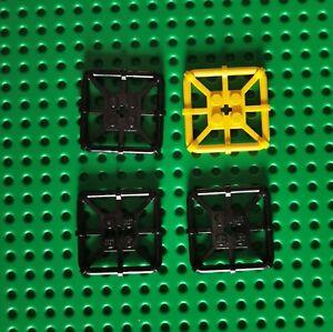 LEGO Platte Flach Modified Octagonal 2x2 BAR Rahmen 4x schwarz gelb 30094 (32)