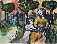 Henriete Barety (1934-2017) - Gouache - Chagall - La provence