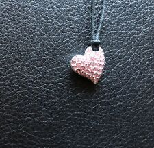 genuine swarovski Pink Heart Pendant Necklace