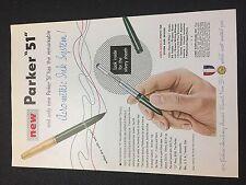 "Print Ad 1950 Parker ""51"" Aero-Metric Ink System Pen"