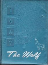 Wolfe City High School Texas 1967 Wolf Yearbook Annual HS