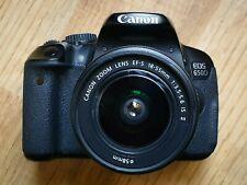 Canon EOS Rebel T4i / EOS 650D 18.0MP Digital SLR Camera + Lens 18-55mm + 8GB
