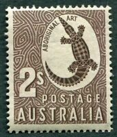 AUSTRALIA 1948-56 2s chocolate SG224 mint MH FG Aboriginal Art c #W36