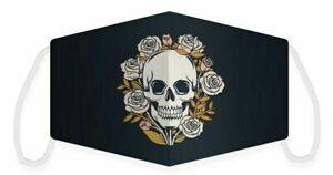 Mund- Nasenschutz Skulls & Roses, Face mask with Skull