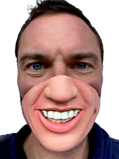 Funny Teeth Mask Half Face Austin Powers 60s 70s Playboy Costume Accessory
