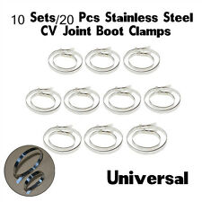 10 Set Universal Stainless Steel Clamp Clip For Drive Shaft CV Joint Boot Clamps