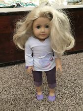 American Girl Doll Just Like You JLY Blonde Blue Eyes Pierced Ears