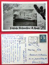 AK SCHIFFE 1938 Fröhliche Weihnachten D. Hansa   ( 3506