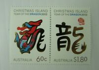 Australia  SC #501-02 CHRISTMAS ISLAND Year of the Dragon 2012  MNH stamps