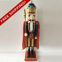 Christmas Nutcracker Figure King With Bright Red Cape  N301 - FREE SHIPPING!
