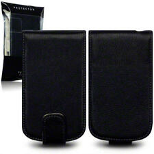 Terrapin Black Genuine Leather Flip Case for Blackberry Q10