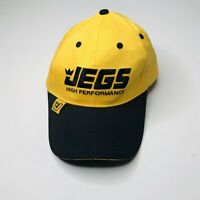 JEGS High Perfromance Baseball cap hat Strapback in Yellow and Black