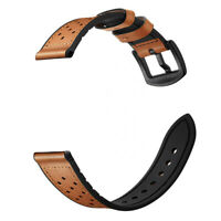 22mm Comfortable Rubber Leather Watch Bands Strap For TAG HEUER CARRERA, CALIBRE
