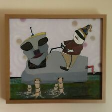 """ORIGINAL SIGNED BY ARTIST OIL PAINTING! TITLED """"BLIND AMBITION"""" VERY UNUSUAL!"""