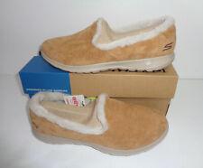 Skechers New Go Walk Ladies Memory Foam Chestnut Slip On Trainers Shoes UK 3-5.5