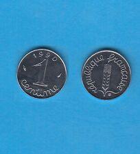Cinquième République 1 Centime acier inoxydable 1990 Rare et splendide qualité