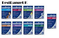 Vitabiotics Wellman Original Plus 50+ 70+ Prostage Skin Sport Conception Vitamin