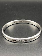 TIFFANY & Co Sterling 925 Silver Bangle Bracelet Cuff 1837