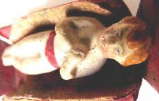 Baby Jesus IN Dresden Cardboard Very Old Dimensions Figure Santon 1850 Original