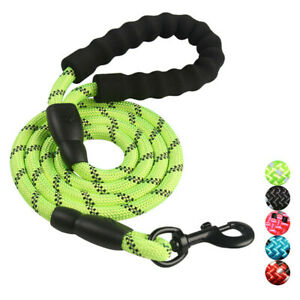Heavy Duty Reflective Standard Dog Lead Leash with Padded Handle for Large Dogs