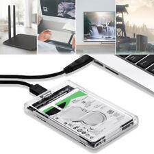"Hard Drive USB 3.0 SATA External 2.5"" inch HDD SSD Enclosure Disk Case UK"