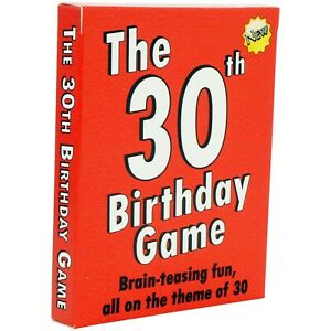 30th Birthday Gift for her or for him. 30th Birthday Card Game. 30 birthday fun!