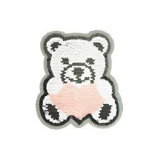 Wendepailletten Patches Aufnäher Pailletten Applikation Teddybär