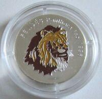 Kongo 500 Francs 1996 Tiere Löwe Silber