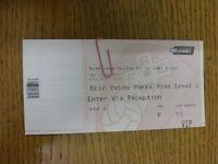 10/05/2014 Ticket: Play-Off League 1 Semi-Final, At Rotherham United, Preston No