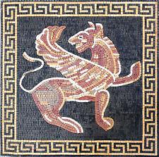 """24""""x 24"""" Handmade Greek  00004000 Keys Gargoyle Center Garden Home Decor Art Tile Stone"""