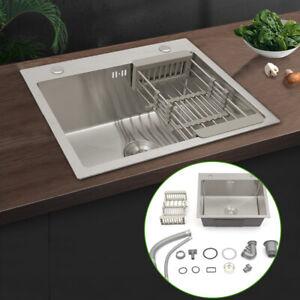 Evier Simple Inox Cuisine bac Finition Satiné Encastrable