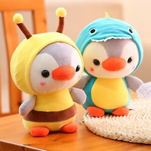 Lovely Cartoon Penguin Animal Fruit Plush Stuffed Toy Pillow Kids Gift Soft Doll