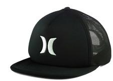 HURLEY BLOCKED 3.0 SUMMER TRUCKER Black Snapback Mesh Cap Hat