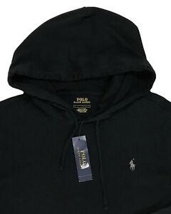 Men's POLO RALPH LAUREN Black Hooded Lightweight Knit Shirt 3XLT 3XT 3LT NWT NEW