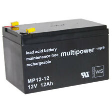 Multipower MP12-12 Bleiakku  Faston 4,8 mm 12V 12Ah 12000mAh